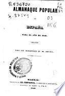 Almanaque popular de España para el año 1846