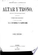 Altar y trono