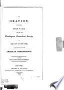An oration, delivered July 5th, 1813, before the Washington Benevolent Society of the City of New York