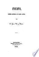 Anacaona, Leyenda histórica en cuatro cantos