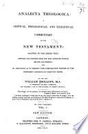 Analecta theologica