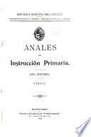 Anales de instruccion primaria