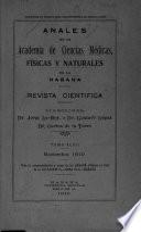 Anales de la Academia de ciencias médicas, físicas y naturales de la Habana