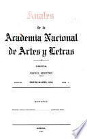 Anales de la Academia Nacional de Artes y Letras