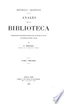 Anales de la Biblioteca