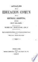 Anales de la educación comun