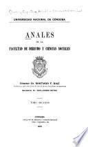 Anales de la facultad de derecho y ciencias sociales ...