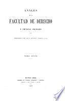 Anales de la Facultad de Derecho y Ciencias Sociales