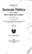 Anales de la hacienda pública del Perú