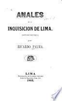 Anales de la inquisición de Lima