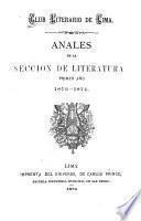 Anales de la Seccion de Literatura