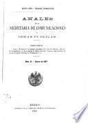 Anales de la Secretaria de Comunicaciones y Obras Publicas