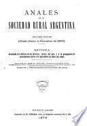 Anales de la Sociedad Rural Argentina0