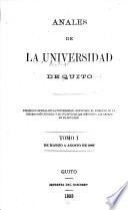 Anales de la Universidad Central del Ecuador