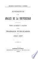 Anales de la Universidad de Chile ...
