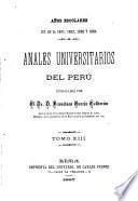Anales de la Universidad Mayor de San Marcos de Lima