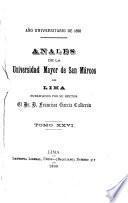 Anales de la Universidad Mayor de San Marcos