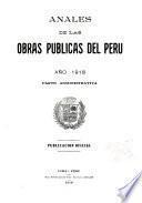 Anales de las obras públicas del Perú