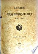 Anales de las obras publicas del Perú