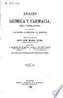 Anales de química y farmacia, física e historia natural