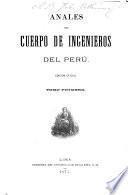 Anales del Cuerpo de ingenieros del Peru