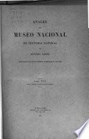 Anales del Museo Argentino de Ciencias Naturales Bernardino Rivadavia.