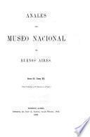 Anales del Museo Nacional de Buenos Aires