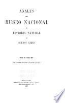 Anales del Museo Nacional de Historia Natural de Buenos Aires