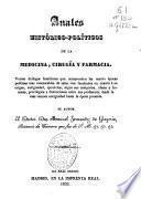 Anales Histórico-Políticos de la Medicina, cirugía y Farmacia