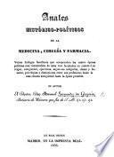 Anales historico-politicos de la Medicina, Cirurgia y Farmacia. Veinte dialogos familiares, etc
