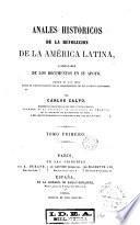Anales históricos de la revolución de la América Latina, 1