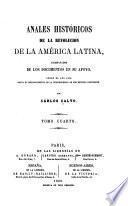 Anales históricos de la revolucion de la América latina