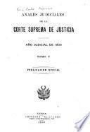 Anales judiciales de la Corte Suprema de Justicia de la República