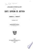 Anales judiciales de la Corte Suprema de Justicia de la Republica