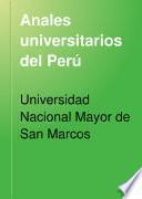 Anales universitarios del Perú