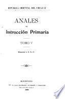 Anales - Uruguay. Consejo Nacional de Enseñanza Primaria y Normal