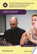 Análisis de la información juvenil en el contexto de las políticas de la juventud. SSCE0109
