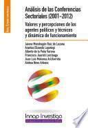 Análisis de las conferencias sectoriales (2001-2012)