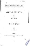 Analisis del agua de Lima