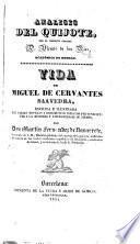 Análisis del Quijote, por V. de los Rios. Vida de Miguel de Cervantes Saavedra, por M. Fernandez de Navarrete