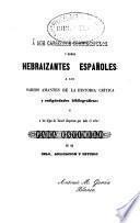 Análisis filosófico de la escritura y lengua hebrea: Tercera parte (1851. 612 p.)
