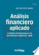 Análisis financiero aplicado y normas internacionales de información financiera - NIIF