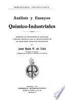 Análisis y ensayos químico-industriales