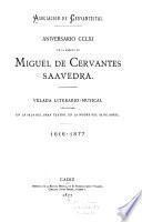 Aniversario CCLXI de la muerte de Miguel de Cervantes Saavedra