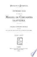 Aniversario de la muerte de Miguel de Cervantes Saavedra