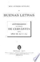 Aniversarios de la muerte de Cervántes