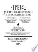 Annuaire d'art préhistorique et ethnographique