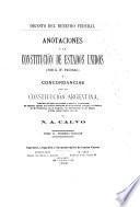 Anotaciones a la Constitución de Estados Unidos