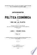 Antecedentes de política económica en el Río de la Plata