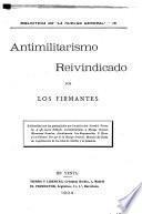 Antimilitarismo reivindicado por los firmantes